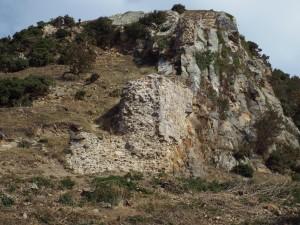 Castell Deganwy (y wal fawr)