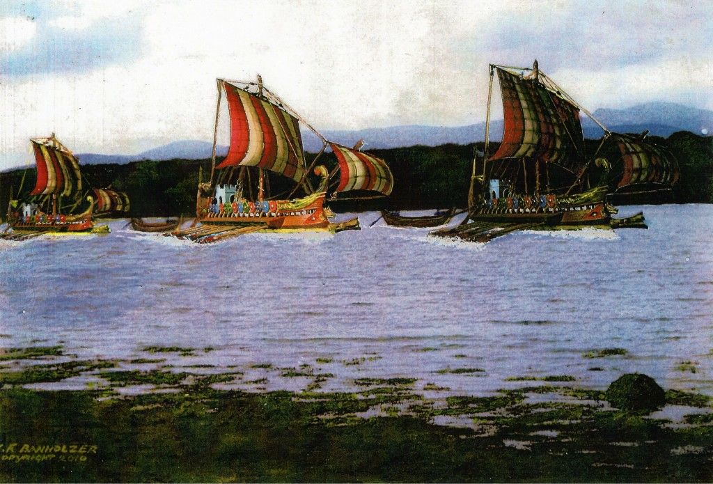 Roman galleys towing barges up the Menai Strait2 - Copy