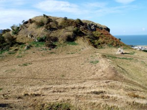 Castell Deganwy (view of motte)