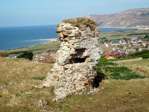 Deganwy Castle (part of a wall)