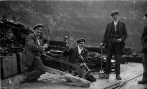 Dinorwic Slate Quarry - The Quarrymen at work